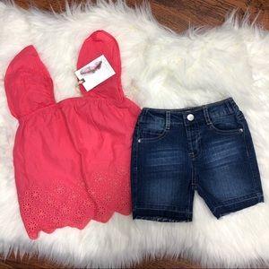 Jessica Simpson Toddler Shorts Set